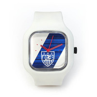 USWNT Primary Sash Watch in a White Strap