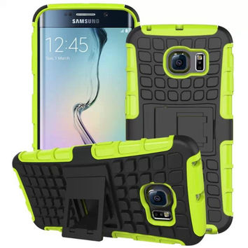 Shockproof With Stand Case Rugged For Samsung Galaxy S6 G920 / S6 Edge G925 Slim Hybrid TPU + Hard PC  Skin Back Case Cover
