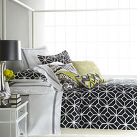"Trina Turk - Black and White ""Trellis"" Bed Linens - Horchow"