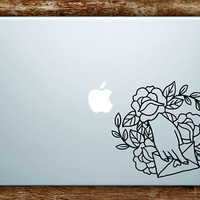 Hand Envelope Roses Tattoo Laptop Apple Macbook Car Quote Wall Decal Sticker Art Vinyl Beautiful Flowers