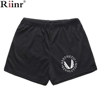Riinr 2017 New Arrival Summer Fashion Men's Shorts Brand Quick Dry Elastic Short High Quality outdoors Gyms Shorts Free Shipping