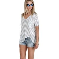 Promo-ivory Weekend Ready Striped Tee