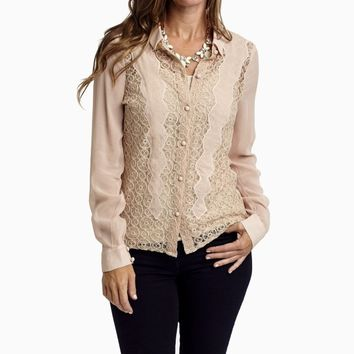 Light-Pink-Lace-Front-Button-Up-Chiffon-Blouse