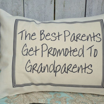 Fathers Day gift, pregnancy reveal, personalized pillow, pregnancy announcement, grandparent gift idea, father gift -best Grandparents