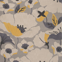 Jaipur Rugs Modern Floral Pattern Gray/Yellow Polyester Area Rug FLO02 (Rectangle)