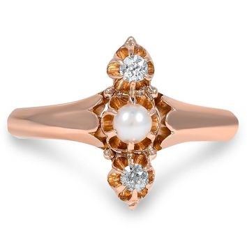 10K Rose Gold The Hannelore Ring