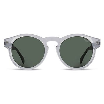 Komono - Clement Metal Series Clear Silver Sunglasses