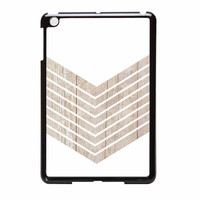 White Geometric Minimalist With Wood Grain iPad Mini 2 Case