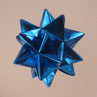 Electric Blue Origami Star by CreativeLifeByEmily