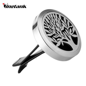 Tree of Life - Essential Oil Fragrance Car Air Vent Diffuser Stainless Steel