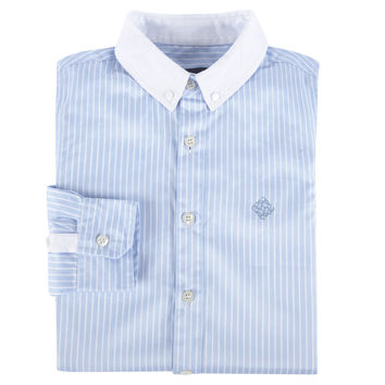 Blue Banker StripeLong Sleeve Button-down Shirt