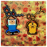 Jake & Finn Molecule Hat Pins