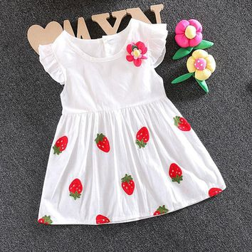 Infant Baby girl clothes summer brand cotton dress for toddler newborn baby girl wear clothing party princess tutu dresses dress