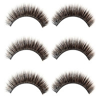 Rarelove 3 Pairs Handmade Natural 3D Long Thick Cross Fake Lashes False Eyelashes 3D-19