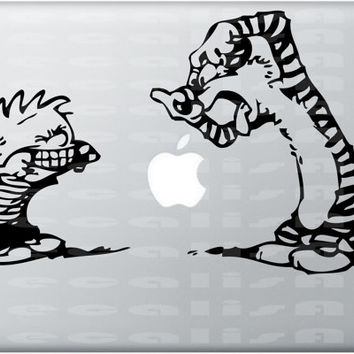Calvin and Hobbes Macbook Decal Laptop Sticker Comic by DecalisArt