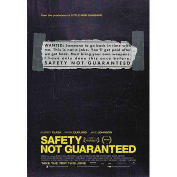 Safety Not Guaranteed 27x40 Movie Poster (2012)