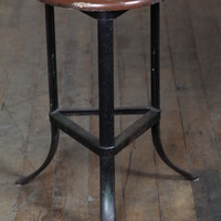 Original, Vintage Industrial, American Made, Factory Stool