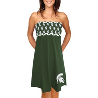 Michigan State Spartans Women's Braided Print Dress – Green