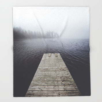 Fading into the mist Throw Blanket by happymelvin