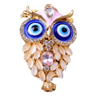 Cute Owl Luxury Keychain