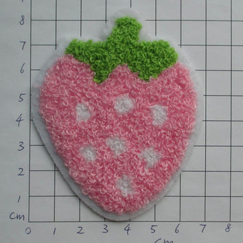 Clearance~ 10 pcs Iron-on Applique Strawberry 3.25 inch