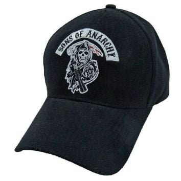 Sons Of Anarchy Reaper Patch Fitted Baseball Cap Hat - Sons of Anarchy - | TV Store Online