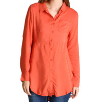 Umgee Rust Button Up Tunic
