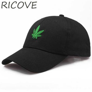 Trendy Winter Jacket Hemp Baseball Cap Men Dad Hat Hip Hop Caps Trucker Snapback Black Vintage Caps For Women Street Maple Leaf Cotton Embroidery Hat AT_92_12