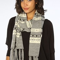 Obey The Oak Ridge Skinny Tassel Scarf
