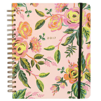 2017 Rifle Paper Co. Everyday 17 Month Planner Large Format - Jardin De Paris