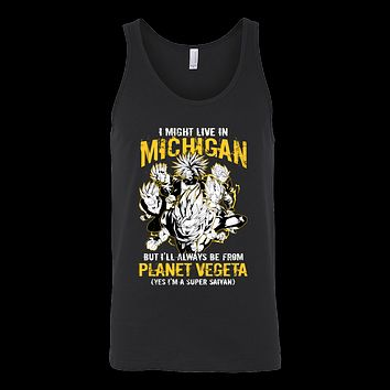 Super Saiyan I May Live in Michigan Unisex Tank Top T Shirt - TL00067TT
