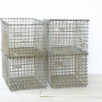 Wire Metal Gym Locker Basket Industrial - 4 Available