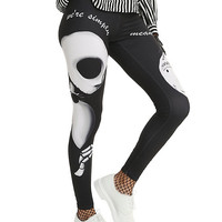 The Nightmare Before Christmas Jack & Sally Leggings