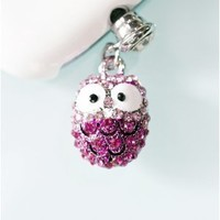 Amazon.com: Smile Decor, Owl (Pink), Crystal Pendant, Earphone Jack Accessory, Dust Plug, Ear Hole Cap, Ear Jack For Samsung, iPhone, Cell Phone, iPad, iPod Touch, Gift Idea: Cell Phones & Accessories