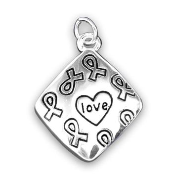Square Love Charm Necklace for Mental Health Awareness