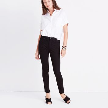 "9"" High-Rise Skinny Jeans in ISKO Stay Black™ : 