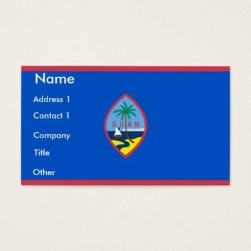 Business Card with Flag of Guam, U.S.A.