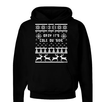 Baby It's Cold Outside Christmas Sweater Design Dark Hoodie Sweatshirt