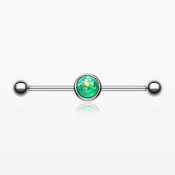 Opal Sparkle Industrial Barbell