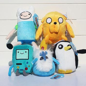 DCCKL72 Adventure time Plush Toys 5style Jake Finn Beemo BMO Penguin Gunter Ice king Stuffed Animals Plush Dolls Soft Toys Free Shipping