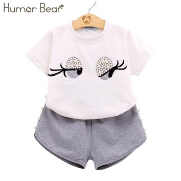 Clothes Set Lovely Long Eyelashes Toddler Girl tops + Pants