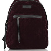 Velvet Backpack - Burgundy