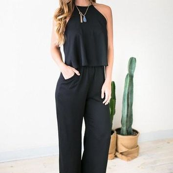 All Year Long Black Jumpsuit