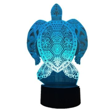Swimming Sea Turtle 3D LED Lamp