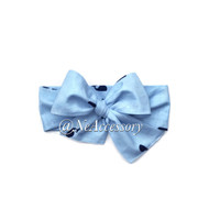 Light Blue Fabric Headband, Light Blue Baby Head Scarf, Baby-Adult (READY TO SHIP)