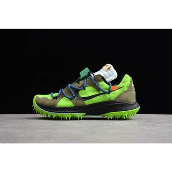 Off-White x Nike Zoom Terra Kiger 5 - Electric Green