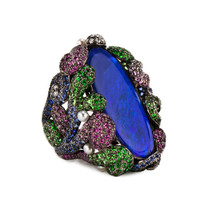 Wendy Yue Blue Opal Underwater Fantasy Ring