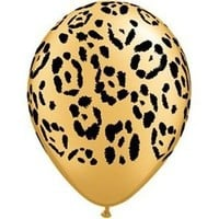 "Single Source Party Supplies - 11"" Jungle Leopard Latex Balloons Bag of 10"