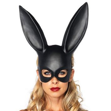 Matte Easter Party Rabbit Ears Mask Half Face Masks Nightclub Bar Masquerade