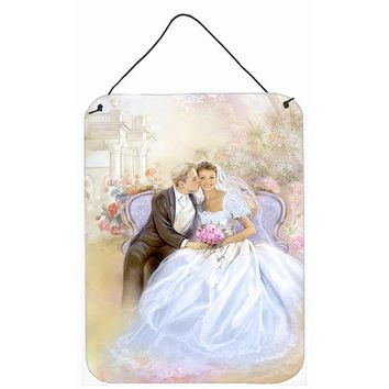 Wedding Couple Kiss Wall or Door Hanging Prints APH8292DS1216
